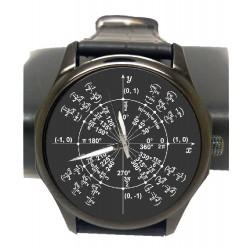 Graphite Black Pi Radian Math Circle Trigonometry Mathematics Art Wrist Watch