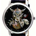Viking Skull Art Steampunk Collectible 40 mm Graphic Art Wrist watch