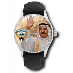 lATE Sheikh Sabah IV Ahmad Al-Jaber Al-Sabah Emir of Kuwait Collectible Wrist Watch. الشيخ صباح الأحمد الجابر الصباح