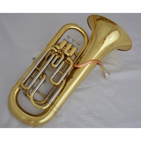 Euphonium Compensating System Horn Professional Gold 3+1 Valves with Case