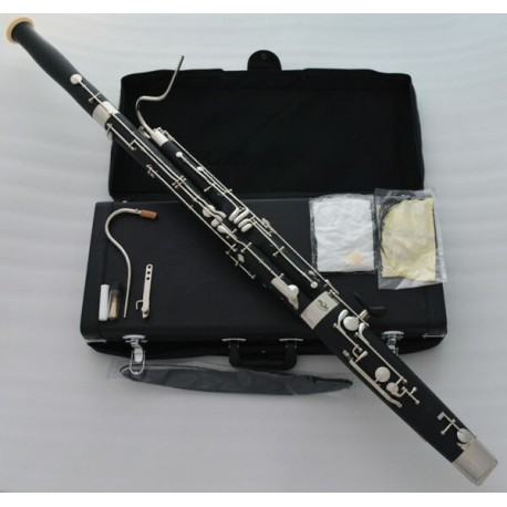 Short Hand Bassoon C key, Cupronickel Bocal Leather Case. Professional Artiste Series