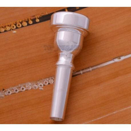 Flugelhorn Mouthpiece Silver-Plated Brass. Top Quality Professional Bocal