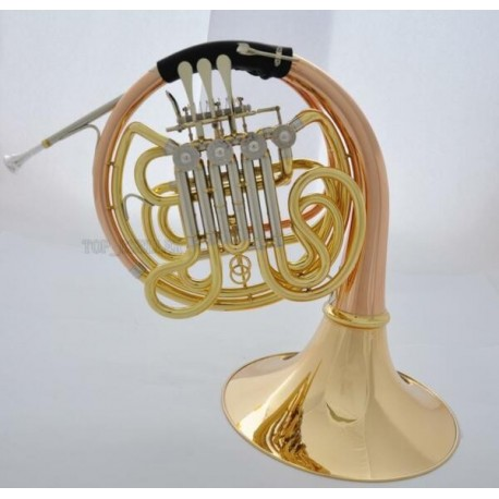 Double French Horn F/Bb Copper and Brass. Professional Artiste Series, with Designer Case