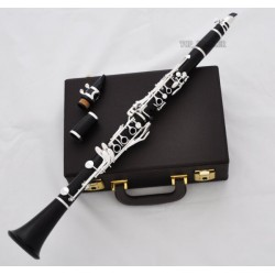 Grenadilla Clarinet, Premium Black Wood, 18 Key With Metal Mouthpiece. Professional Series