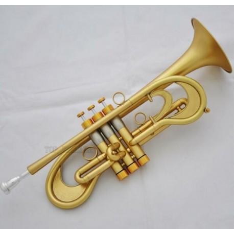 Bb Trumpet Customized Flumpet Horn Matt Finish With Case. Professional Grade