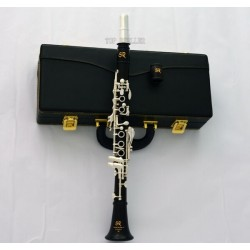 Grenadilla Ebony Wooden Eb Piccolo Soprano Clarinet Italian pads With Case