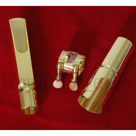 Super Gold Plated Metal Jazz Mouthpiece for Tenor Saxophone Bb Sax New 7