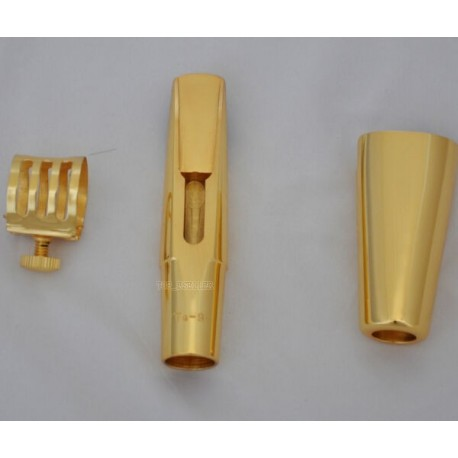 Professional Gold Plated Metal Mouthpiece for Tenor Saxophone Bb Sax TG
