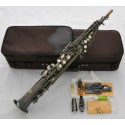 Antique Soprano Saxophone Bb High F# Straight Sax With Case. Professional Artiste Series