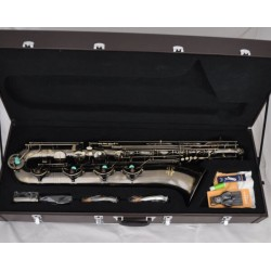 Antique Eb Baritone Saxophone Low A High F# Sax 2 Necks Professional Series