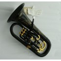Professional Black Euphonium Horn 11'' Bell 26'' Height With Case