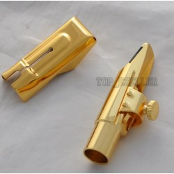 Metal Mouthpiece for Alto Saxophone Eb sax Gold Plated 7