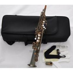 Professional Antique Sopranino Saxophone Eb sax Low Bb high F# Italian pads