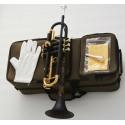 Matt Black Bb Trumpet horn Monel Valve Engraving bell + 2 Mouthpiece W/Case