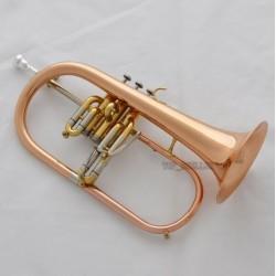 Rose Brass Engraving Bell Flugelhorn Abalone Newest Water Key Bb horn w/Case