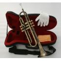 Professional Antique Bronze Trumpet horn Bb Keys With Monel valve Hard Case