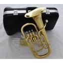 High-Grade 3 Piston Baritone Horn B-Flat Gold Brass Brand New With Case