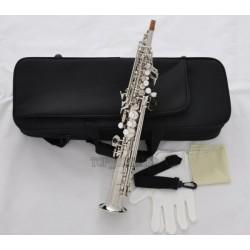 Professional Silver Nickel Eb Sopranino Saxophone Sax Low Bb High F? with Case