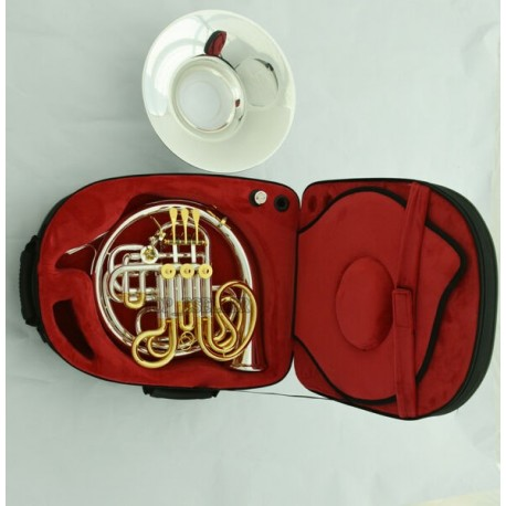 Professional 103 Double French Horn Silver Gold F/Bb Detached Bell W/Case