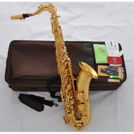 Superbrass 7000 Tenor Saxophone Bb Gold Sax High F# , German Mouthpiece