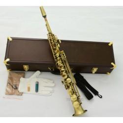 Customized Professional Antique VI Soprano Bb Saxophone Straight Sax LeatherCase