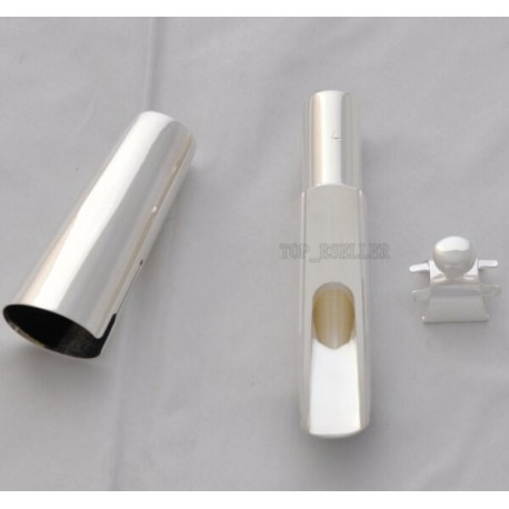 Superbrass Pro-Grade Silver Plated Baritone Saxophone Metal Sax Mouthpiece Size 7