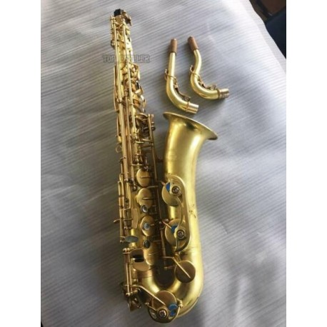 Professional Unlacquer C Melody saxophone Bare Brass Sax 2 necks with case