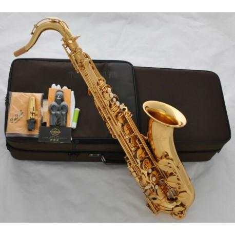 Professional Gold Superbrass Tenor Saxophone Sax Bb Saxofon High F# with Case