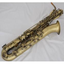 Professional Antique Baritone Saxophone Eb Bari sax Low A 2 Necks With Case