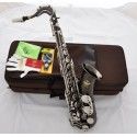 Professional Superbrass 7000 Model Tenor Saxophone Black Nickel Siver Sax With CASE
