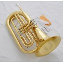 Professional Bb Marching Baritone Gold Horn Monel Valve With Case Mouthpiece