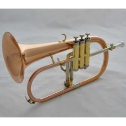 Professional Rose Brass Flugelhorn Cupronickel tuning Bb Flugel horn With Case