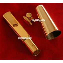 New Gold Plated Metal Saxophone Mouthpiece for Baritone Eb Sax
