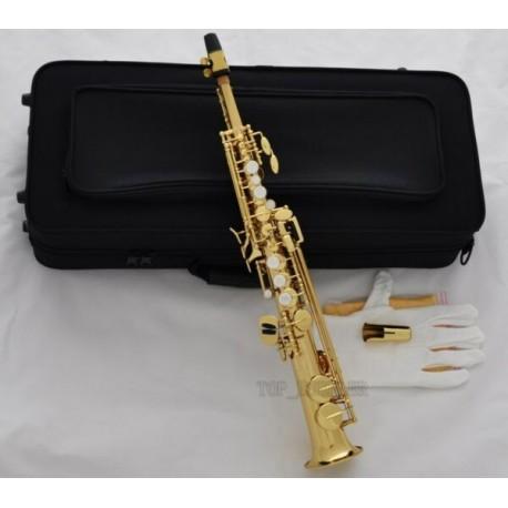 Professional Gold Eb Sopranino Saxophone Low Bb High E sax Italian pads Case