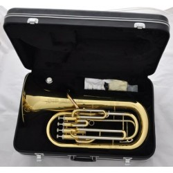 Professional Gold Euphonium 4 Pistons Bb Horn Cupronickel tuning pipe W/Case