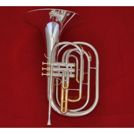 Pro Silver Plated Marching French horn gold plated valves cup With Case