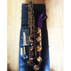 Purple Baritone Saxophone Professional Bari sax Eb (Low A Key) Very Beautiful