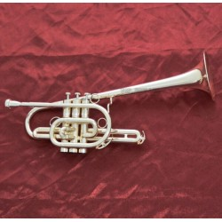 Professional Brand Marching Trumpet Silver plated horn Monel valve With Case