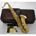 Professional Yellow Antique Superbrass Tenor Saxophone Bb sax Italian pads Case