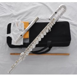 Professional Silver Alto Flute G key With Straight Curved Headjoint, Italian pads