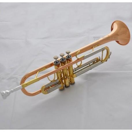 Professional phosphor copper straight line Cylinder Trumpet horn Monel Valves With Case