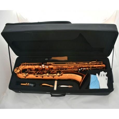 Professional Coffee colour baritone saxophone Bari Sax W/case Accessories