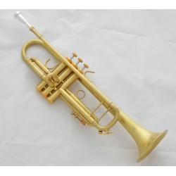 """Professional Matt Brass Bb Trumpet horn 4-7/8"""" Bell Monel Valves With case"""