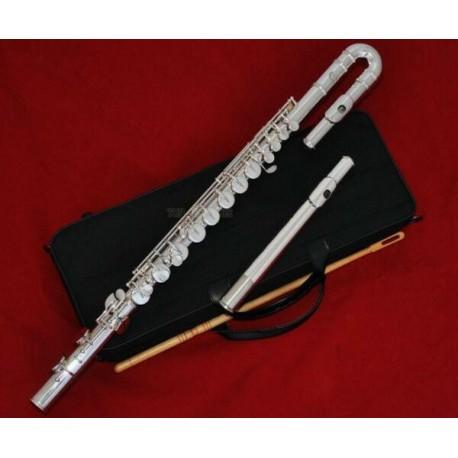 SALE Professional Silver Alto Flute G Key Straight Curved Head Jonit Italian pad