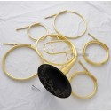 Top Gold Lacquer Natural 5 Key French Horn A/D/E/F/G Key Engraving Bell New Case