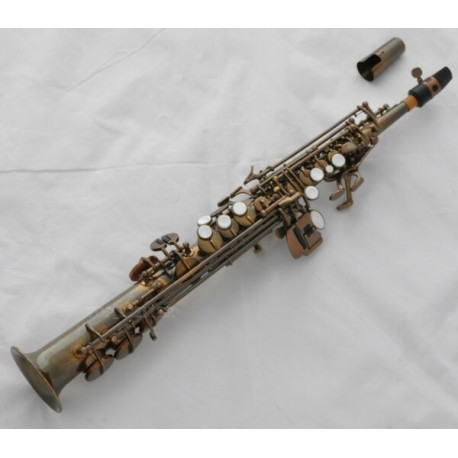 Sopranino Saxophone Eb Sax Antique Finish. Low Bb high F with Case. Professional Series.