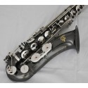 Tenor Saxophone Black Nickel & Silver Finish Sax with Engraved Bell. Professional Artiste Series.