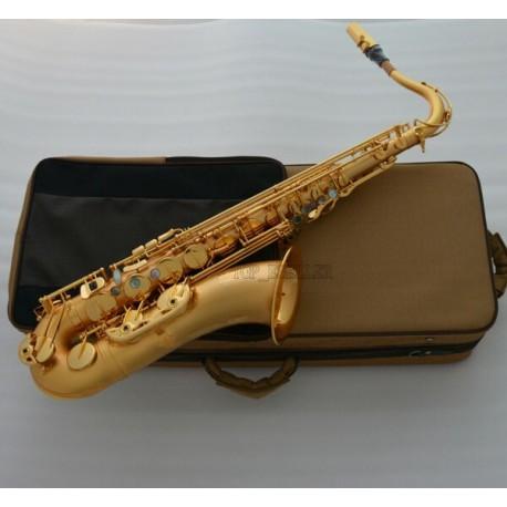 Customized Satin Gold Plated Tenor Saxophone Luxury Superbrass Sax Bb Saxofon