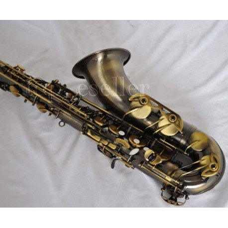 Professional Antique Bronze Tenor Sax Saxophone Bb High F# Saxofon with Case