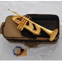 Professional Satin Gold Plating Heavy Trumpet Horn Bb Monel Valve Germany Brass